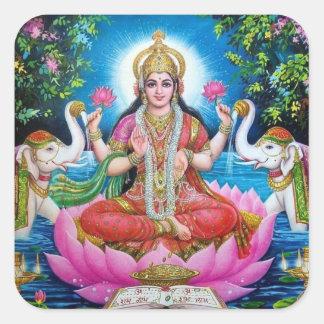 Lakshmi Goddess of Love, Prosperity, and Wealth Square Sticker
