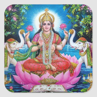 Lakshmi Goddess of Wealth Sticker