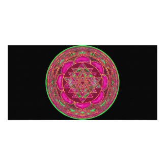 Lakshmi Yantra Mandala photo card