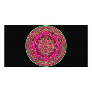 Lakshmi Yantra Mandala photo card
