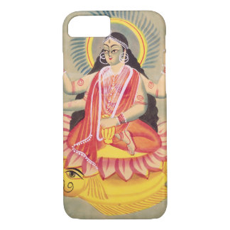 Laksmi sitting on a throne of lotus leaves, c.1890 iPhone 8/7 case