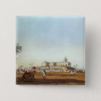 Lall Bazaar and the Portuguese Chapel 15 Cm Square Badge
