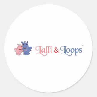 Lalli and loop round sticker