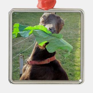 Lamancha Goat Christmas Ornament