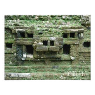Lamani Mayan Ruins Jaguar Mask Belize Travel Photographic Print