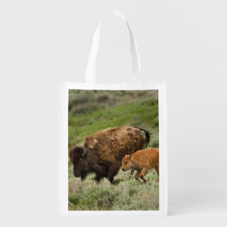Lamar Valley Mini Stampede Reusable Grocery Bag