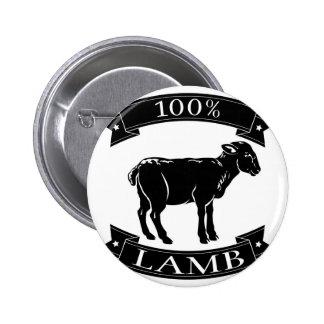 Lamb 100 percent label button