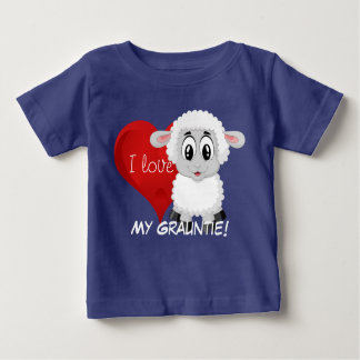 """Lamb and heart design with """"I love My Grauntie!"""" Baby T-Shirt"""