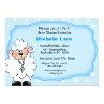 Lamb   Baby Boy Shower Invitations