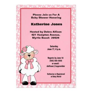 Lamb Baby Shower Invitation
