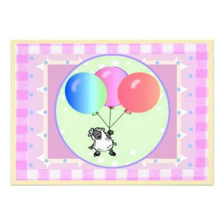 Lamb Baby Shower template card Custom Invitation