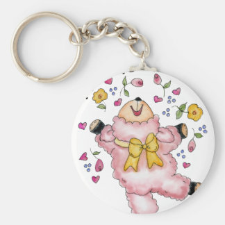 lamb basic round button key ring