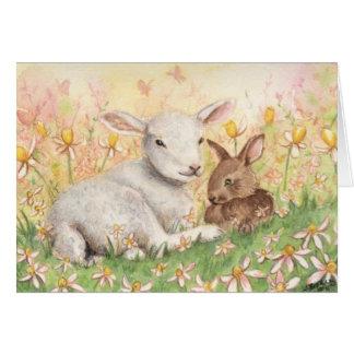 """""""Lamb & Bunny"""" Card"""