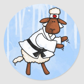 lamb chop classic round sticker