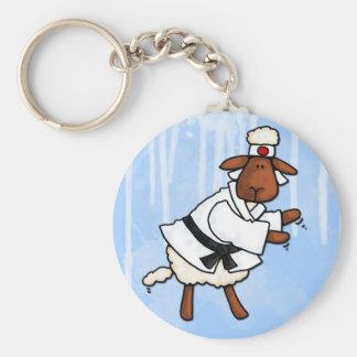 lamb chop basic round button key ring