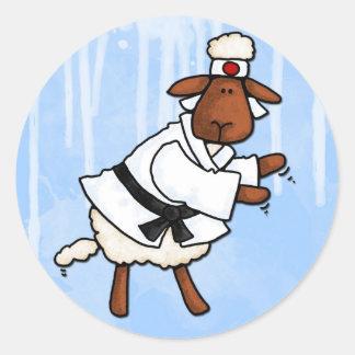 lamb chop round sticker