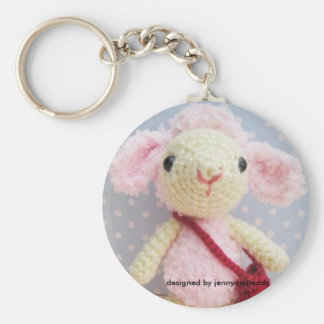 lamb designed by jennyandteddy key ring