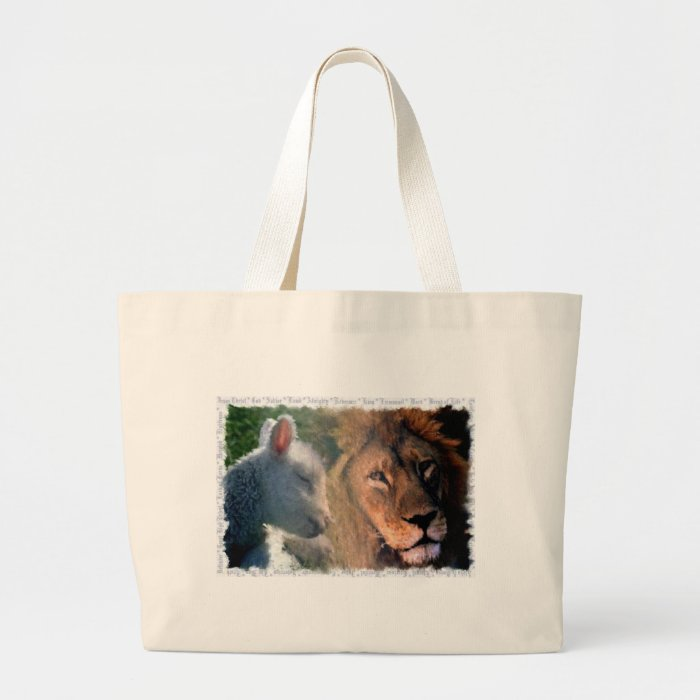 Lamb & Lion Large Tote Bag