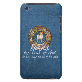 Lamb of God Byzantine Christian Icon on Blue Case-Mate iPod Touch Case