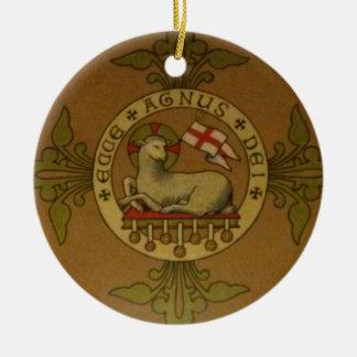 Lamb of God Ecce Agnus Dei Christmas Ornament