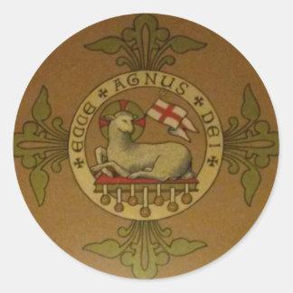 Lamb of God Ecce Agnus Dei Classic Round Sticker