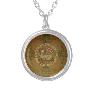 Lamb of God Ecce Agnus Dei Silver Plated Necklace