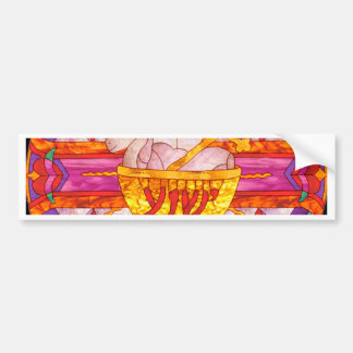 Lamb of God stained glass Bumper Stickers