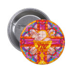 Lamb of God stained glass Button