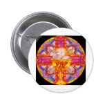 Lamb of God stained glass Pinback Buttons