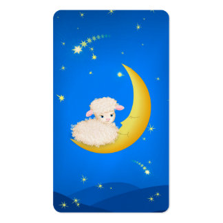 Lamb on Moon Business Card Templates