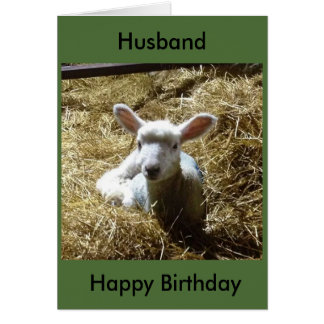 Lamb Sheep Birthday Card Personalise Birthday etc