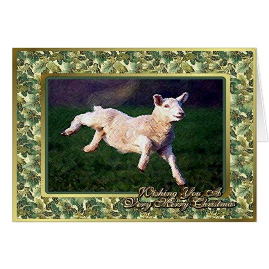 Lamb Sheep Blank Christmas Card
