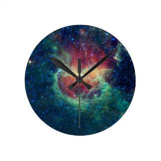 Lambda Centauri Nebula Round Clock