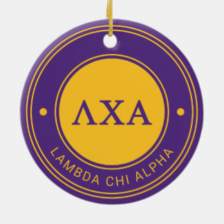 Lambda Chi Alpha | Badge Christmas Ornament