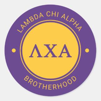 Lambda Chi Alpha   Badge Classic Round Sticker