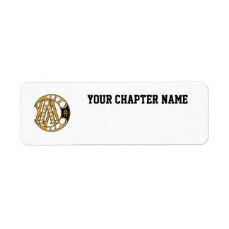 Lambda Chi Alpha Badge Return Address Label