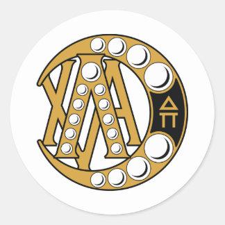 Lambda Chi Alpha Badge Round Sticker