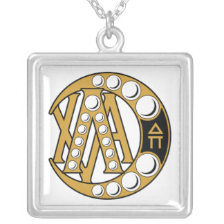 Lambda Chi Alpha Badge Silver Plated Necklace