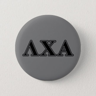 Lambda Chi Alpha Black Letters 6 Cm Round Badge
