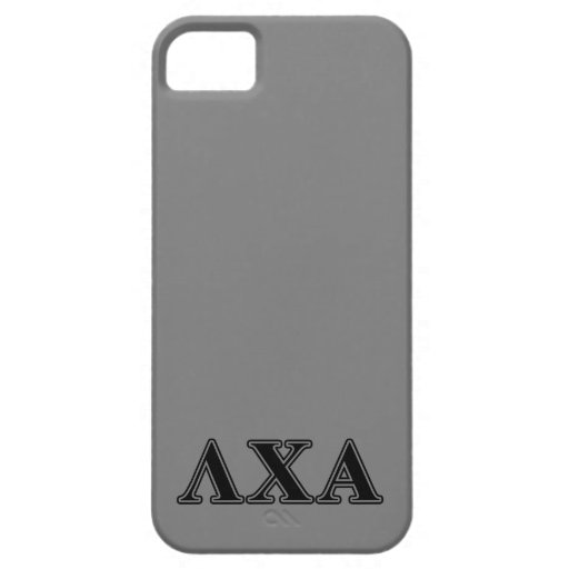 Lambda Chi Alpha Black Letters iPhone 5/5S Cases