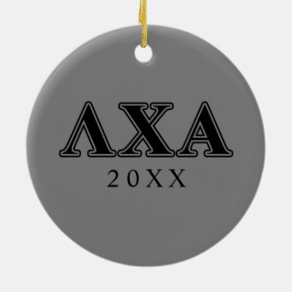 Lambda Chi Alpha Black Letters Christmas Ornament