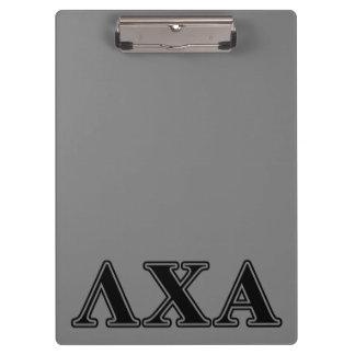Lambda Chi Alpha Black Letters Clipboard
