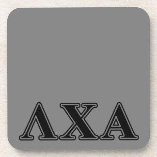 Lambda Chi Alpha Black Letters Coaster