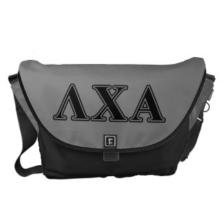 Lambda Chi Alpha Black Letters Courier Bag