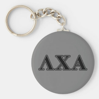 Lambda Chi Alpha Black Letters Key Ring