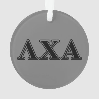 Lambda Chi Alpha Black Letters Ornament