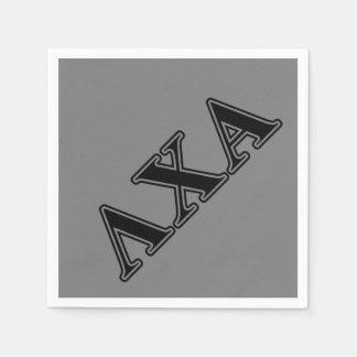 Lambda Chi Alpha Black Letters Paper Napkins
