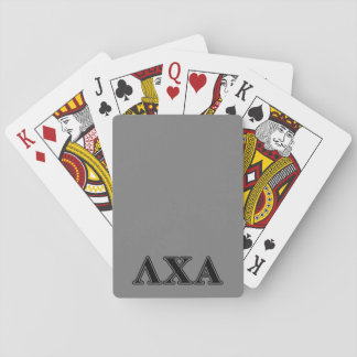Lambda Chi Alpha Black Letters Playing Cards