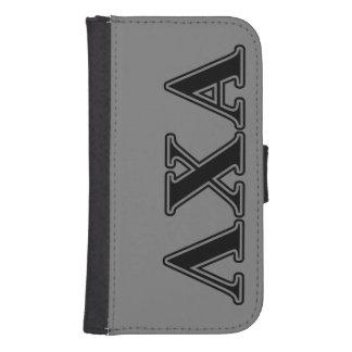 Lambda Chi Alpha Black Letters Samsung S4 Wallet Case
