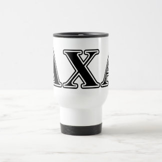 Lambda Chi Alpha Black Letters Travel Mug